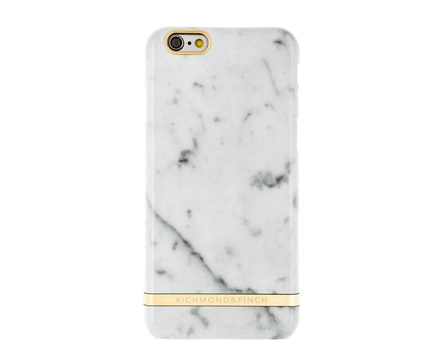 R&F för iPhone 5/5S/SE White Carrara Marble