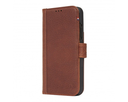Decoded - Leather Card Wallet Case Magnet för iPhone XS Max - Brun