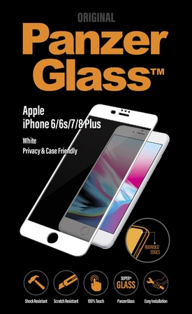 PanzerGlass iPhone 6/6s/7/8 Plus Privacy, White
